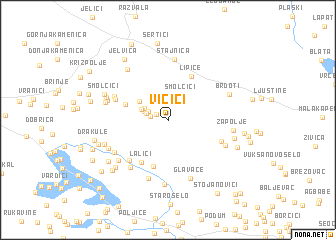 map of Vičići