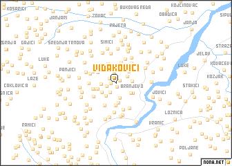 map of Vidakovići