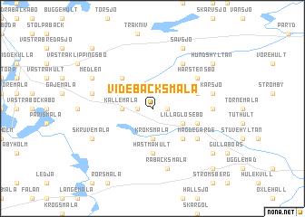 map of Videbäcksmåla