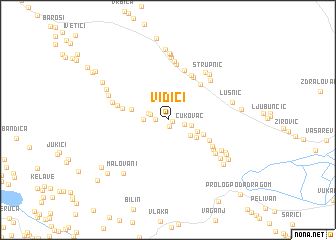 map of Vidići