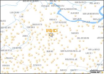 map of Vidići