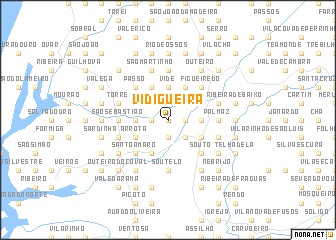 map of Vidigueira