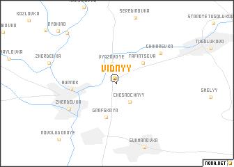 map of Vidnyy