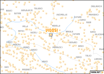 map of Vidoši