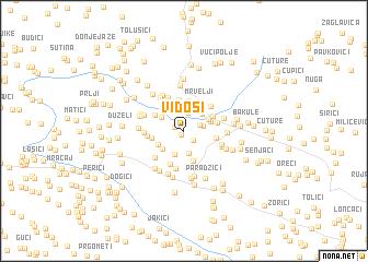 map of Vidoši