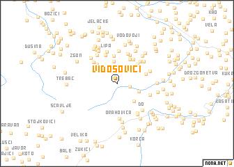 map of Vidosovići