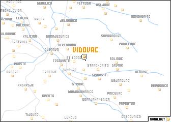 map of Vidovac