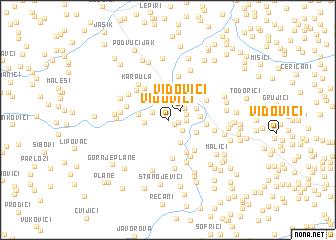 map of Vidovići