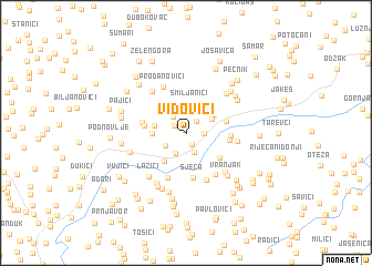 map of Vidovići