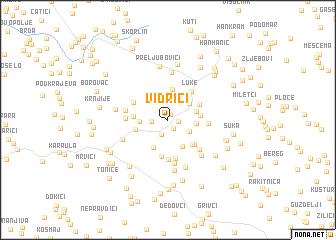 map of Vidrići