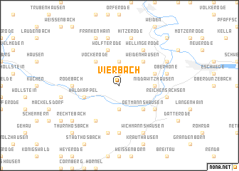 map of Vierbach