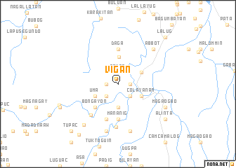 map of Vigan