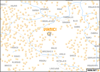 map of Vihnići