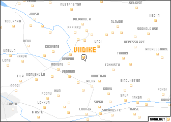 map of Viidike