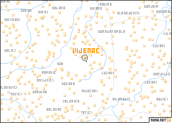 map of Vijenac