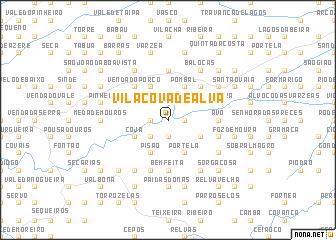 map of Vila Cova de Alva