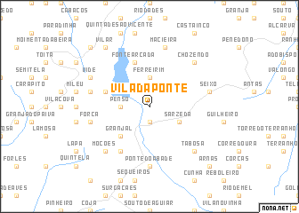 map of Vila da Ponte