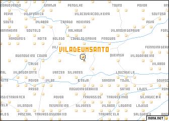 map of Vila de um Santo