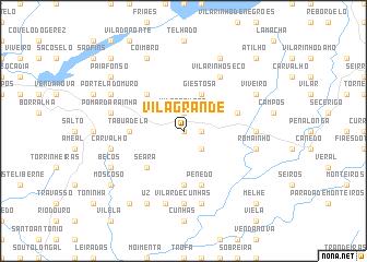 map of Vila Grande