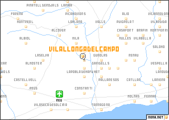 map of Vilallonga del Campo
