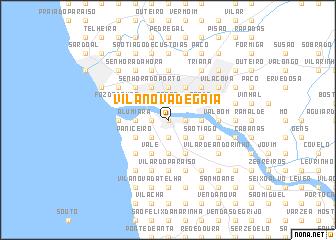 Vila Nova de Gaia Portugal map nonanet