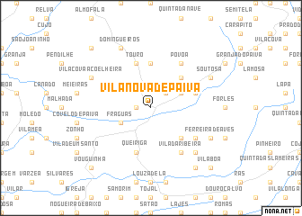 map of Vila Nova de Paiva