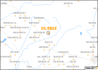 map of Vilaque
