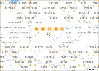 map of Vilar de Cunhas