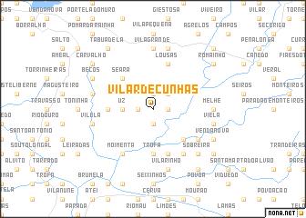 map of Vilar de Cunhas