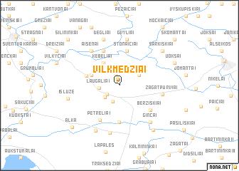 map of Vilkmedžiai