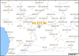map of Vilkyčiai