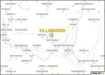 map of Villa Barone