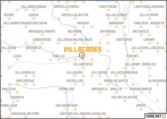 map of Villacanes