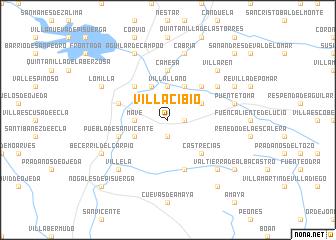 map of Villacibio