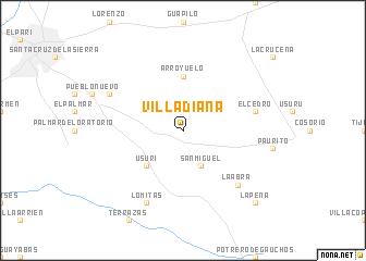 map of Villa Diana