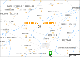 Forli Italy Map.Villafranca Di Forli Italy Map Nona Net