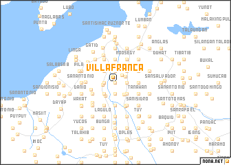 map of Villafranca
