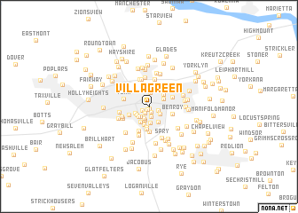 map of Villa Green