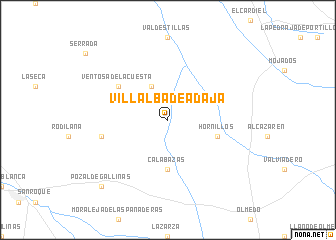 map of Villalba de Adaja