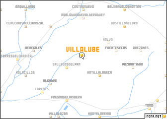 map of Villalube