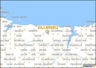 map of Villandriz