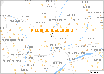 map of Villanova del Lúdrio