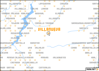 map of Villanueva