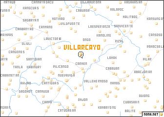 map of Villarcayo