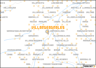 map of Villar de Adralés