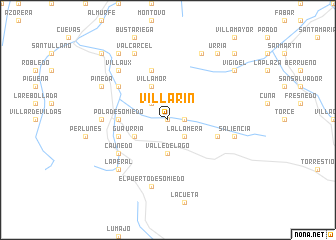 map of Villarín