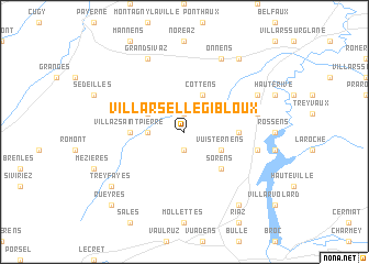 map of Villarsel-le-Gibloux
