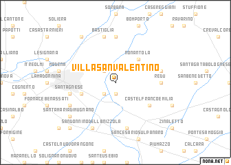 map of Villa San Valentino