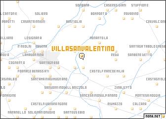 map of Villa San Valentino
