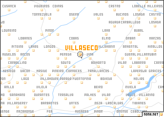 map of Villaseco